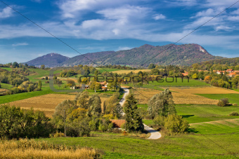 Beautiful green scenery of Prigorje region