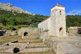 Old church historic site in Baska