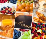 Montage Menu & Fresh Healthy Diet Food Lifestyle