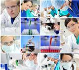 Scientific Research Team Men &amp; Women in a Laboratory