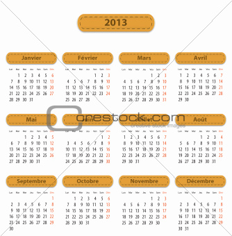 2013 French calendar
