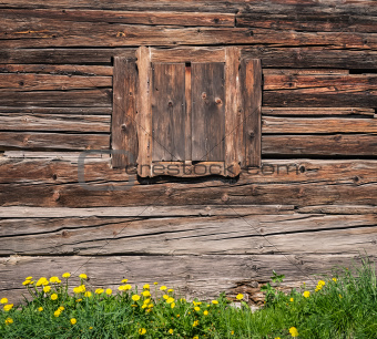 Wooden textured wall and window