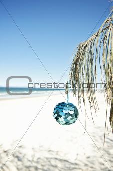 xmas decoration at beach