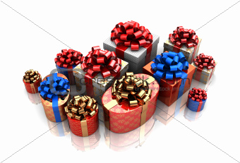 group of gift boxes