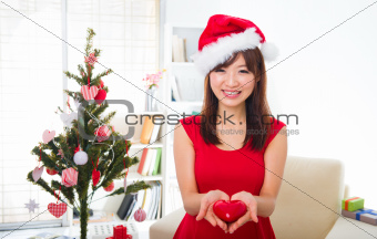 asian girl during christmas