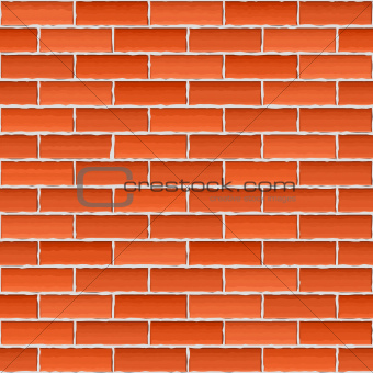 Old brick wall, seamless background