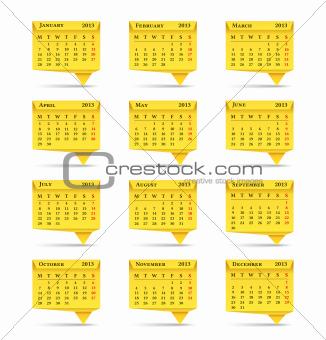 Calendar 2013, Origami Style