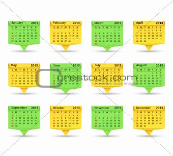 2013 Origami Calendar