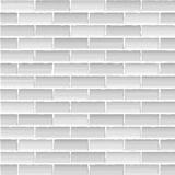Old white brick wall, seamless background