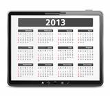 Tabler computer with 2013 calendar
