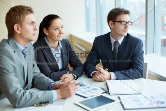 Pensive employees
