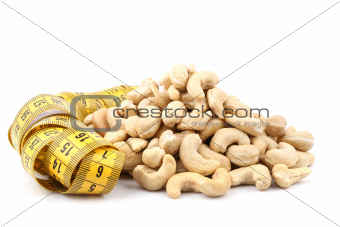 cashew (nut) and meter