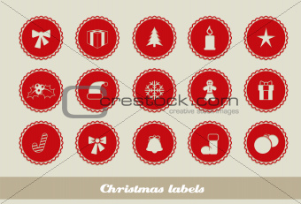 Abstract Christmas labels