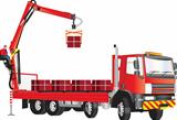 Red Crane Truck
