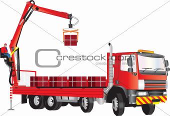 Red Crane Truck