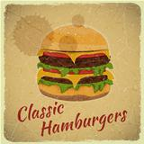 Grunge Cover for Hamburgers Menu
