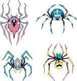 Symmetrical spiders