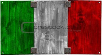 Wooden Italian Flag