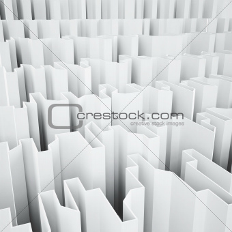 white acute angled abstraction as a background
