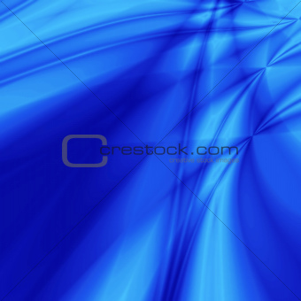 Background from white-blue smooth and blurred waves