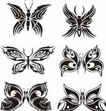 Symmetric butterfly tattoos