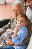 He spoils his grandson all the time