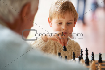 Learning to play chess with grandpa