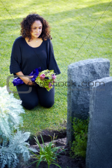 These flowers will never express the extent of her grief