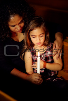 She is the light of her mother's life