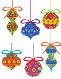 Christmas Ornaments with Tribal Motifs