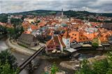 View of Cesky Krumlov, Czech Republic.