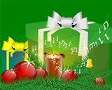 Music green christmas card
