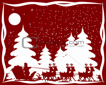 Red and white christmas card