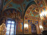 Gold ornated interior of orthodox church