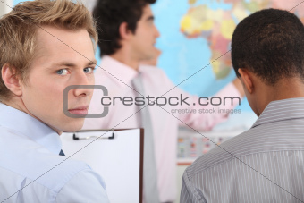 businessman on a professional training