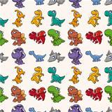 seamless Dinosaurs pattern