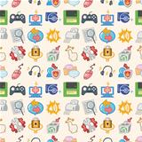 seamless web pattern