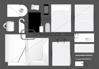 Blank stationery design set