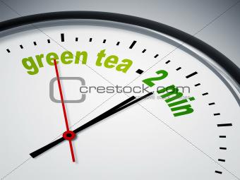 green tea - 2 min