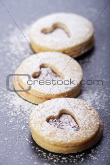 christmas cookies and sugar powder