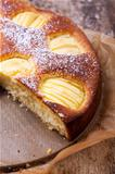 closeup of a apple cake 