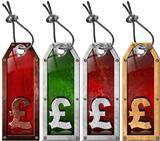 Pound Price - Grunge Tags - 4 items