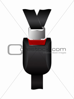 Safety belt clipped