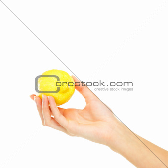 A fresh lemon