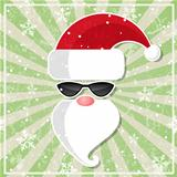 Santa in sunglasses.
