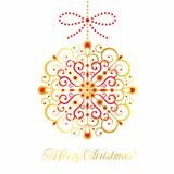 Gold vector decoration. Christmas card.