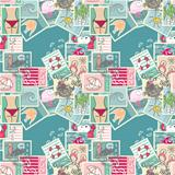 Seamless Summer Postage pattern