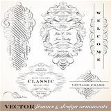 Vector Fancy Victorian Ornament Set.
