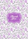 Vector Lilac Frame and Background
