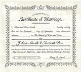 Vector Vintage Marriage Certificate.